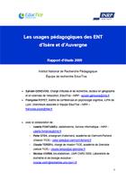 Les usages pédagogiques des ENT d'Isère et d'Auvergne