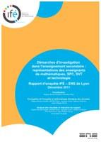 Rapport d'enquête : Démarches d'investigation dans l'enseignement secondaire, représentations des enseignants de mathématiques, SPC, SVT et technologie