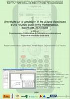 Une étude sur la conception et les usages didactiques d'une nouvelle plate-forme mathématique, potentialité, complexité
